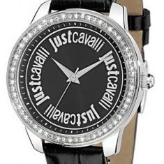 Just Cavalli R7251196502 ceas dama nou, 100% veritabil. Garantie.In stoc - Livrare rapida., Casual, Quartz, Inox, Piele, Rezistent la apa