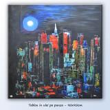 Peisaj citadin modern New York (6) - ulei pe panza - 90x90cm LIVRARE GRATUITA 24-48h