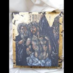 Pictura clasica -icoana de colectie- unicat- tablou religios - Icoana cu foita de aur