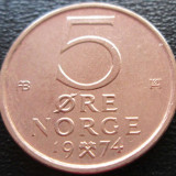 (296) NORVEGIA 5 ORE 1974