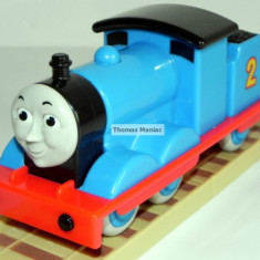 My First Thomas by Golden Bear trenulet - Edward (CU SUNETE) locomotiva albastra cu nr.2 ( transport 3 RON la plata in avans ) - Trenulet de jucarie Thomas and Friends, Plastic, Unisex