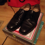 Pantofi cadru militar iarna, marime 43 - Pantofi barbati, Culoare: Negru, Piele naturala