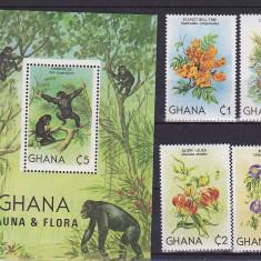 Fauna maimute, flora, Ghana. - Timbre straine, Africa de sud