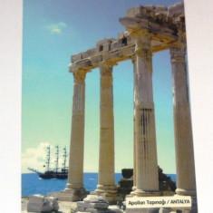 Carte postala - ilustrata - ISTORIE - TEMPLUL LUI APOLLO - necirculata - 2012 - TURCIA - 2+1 gratis toate produsele la pret fix - CHA1066, Asia, Fotografie