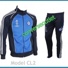 Trening ADIDAS CHELSEA LONDRA - Bluza si Pantaloni Conici - Pret Special - - Trening barbati, Marime: S, M, L, XL, XXL, Culoare: Alb, Bleu