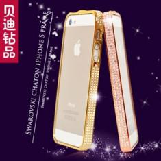 Huse iphone 5s cu pietre swarovski - Husa Telefon Accessorize, Auriu, Metal / Aluminiu, Carcasa