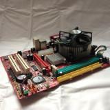 KIT PLACA DE BAZA LGA 775 MSI PM8M3-V DDR1/AGP + PROCESOR INTEL P4 3.0GHZ + COOLER |CD CU DRIVERE INCLUS| GARANTIE 12 LUNI, Pentru INTEL, Contine procesor, MicroATX