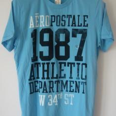 Tricou Aeropostale USA, M, original 100%, bumbac 100%, nou cu eticheta - Tricou barbati Aeropostale, Marime: M, Culoare: Bleu, Maneca scurta
