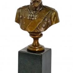 Sculptura, Bronz - BUSTUL LUI SERGHEI YURIEVICH- STATUETA DIN BRONZ PE SOCLU DIN MARMURA