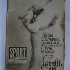 REVISTA SPORT DECEMBRIE 1976 CU NADIA COMANECI