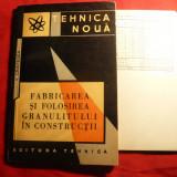V.Cristescu - Fabricarea si Folosirea Granulitului in Constructii - 1964 - Carti Constructii