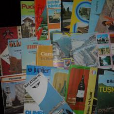 Lot pliante turistice de pe vremea lui Ceausescu - Pliant Meniu Reclama tiparita