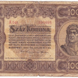 Ungaria bancnota 100 korona 1920 portret Matei Corvin