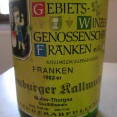 Vin alb vechi german, de colectie Franken Muller Thurgau 32 de ani - Vinde Colectie, Demi-sec, Europa