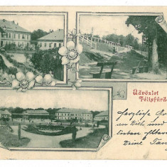 935 - L i t h o, Oradea, BAILE FELIX - old postcard - used - 1901 - Carte Postala Crisana pana la 1904, Circulata, Printata