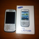 Samsung galaxy chat - cu garantie - Telefon Samsung, Alb, 2GB, Neblocat, Fara procesor, 512 MB