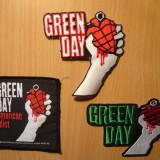 Broderii Patchuri de cusut Green Day 3 bucati