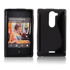 Husa TPU S-LINE Nokia Lumia 502 Black