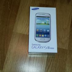 Telefon mobil Samsung Galaxy S3 Mini, Alb, 8GB, Neblocat - VAND SAMSUNG S3 MINI ALB SIGILAT CU FACTURA LIBER DE RETEA