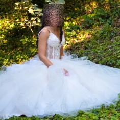 Rochie de mireasa Fashion Princes model 2014 marimea 36-38 - Rochie de mireasa printesa