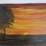Tablou pe panza pictat in ulei - Pictor roman, Peisaje, Altul