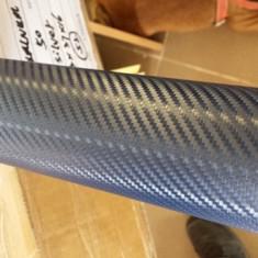 Folii Auto tuning - Rola folie carbon 3D albastra cu tehnologie de eliminare a bulelor de aer 10m x 1.5m