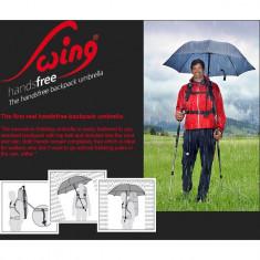 Umbrela Euroschirm Swing Handsfree fara maini pentru aparat foto, GPS - Umbrela Dama