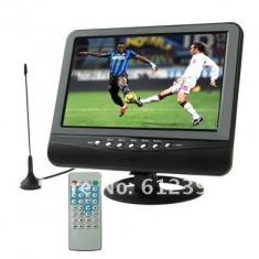 COMBO BOX, TELEVIZOR +mp4 +MP3, 9.8 INCH CU antena, BOXE, CITITOR STICK USB, CARD, ADAPTOR AUTO SI 220V.telecomanda full control.