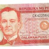 Bancnota Straine, Asia - FILIPINE 20 piso 1986-94 XF