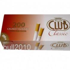 Foite tigari - Tuburi CLUB CLASSIC - 200 tuburi pentru injectat tutun, tigari, filtre tigari