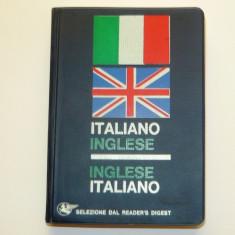 Dictionar bilingv ITALIAN - ENGLEZ si ENGLEZ - ITALIAN - de buzunar - 380 pag - NOU- 2+1 gratis toate produsele la pret fix - RBK5084 Altele