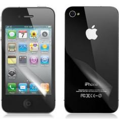 Folie iPhone 4 4S Fata Spate Transparenta - Folie de protectie Apple, Lucioasa