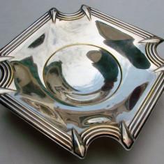 Frumoasa fructiera din alama argintata stil Art Deco, Ornamentale