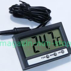 Termometru Auto - Termometru Digital Interior Exterior Si Ceas