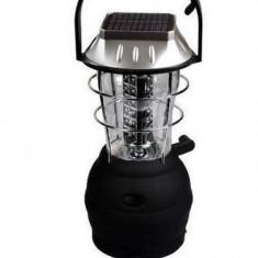 Lampa solara si mecanica merge si cu baterie si incarca si la priza cu 36 leduri - Lanterna