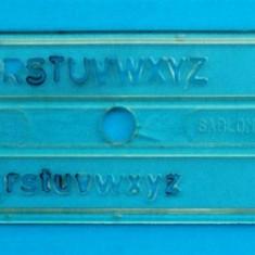 Sablon litere pentru tras in tus - 0, 5 mm