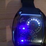 Ceas led - Ceas de mana cu led-uri albastre-Racer Bord de masina