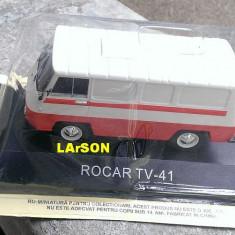 Macheta auto, 1:43 - Macheta metal DeAgostini Rocar TV-41 NOUA+ revista Masini de Legenda nr.61