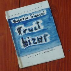 Caiet realizat la masina de scris - Valentin Sirachi - fruct bizar ( poezie ) - Oravita1982 - Ed. de revista Accente a Liceului Agroindustrial Oravita - Carte poezie