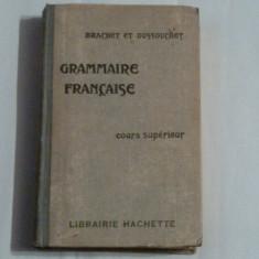 BRANCHET et DUSSOUCHET - GRAMMAIRE FRANCAISE cours superieur Ed.veche - Carte Literatura Franceza