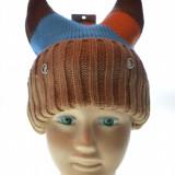Caciula copii 100% lana, model vesel