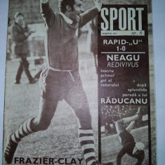 Revista SPORT Nr. 6 / 1971 Articol : U Cluj - eterna poveste