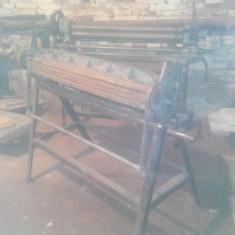 Masini de prelucrat tabla, calandru(masina de rulat tabla), masina de indoit tabla (apcant), masina de nervurat (zincmasina) ORIGINALE - Masina indoit