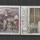 Suedia.1982 100 ani nastere J.Bauer-Ilustratii MS.219 - Timbre straine