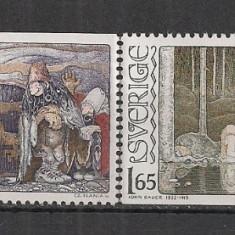 Timbre straine - Suedia.1982 100 ani nastere J.Bauer-Ilustratii MS.219