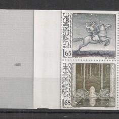 Timbre straine - Suedia.1982 100 ani nastere J.Bauer-Ilustratii, carnet MS.220
