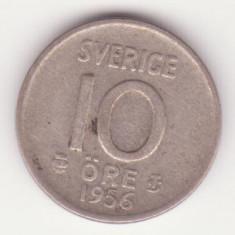 (2) MONEDA DIN ARGINT SUEDIA - 10 ORE 1956, Europa