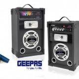 PROMOTIE BLACK FRIDAY! 2 BOXE ACTIVE CU MIXER ,MP3 PLAYER USB,RADIO FM,AFISAJ LCD,200 WATT P.M.P.O+2MICROFOANE +STROBOSCOP DISCO BONUS!