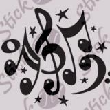 Note Muzicale_Tatuaj de perete_Stickere Décor_WALL-543-Dimensiune: 35 cm. X 30.8 cm. - Orice culoare, Orice dimensiune