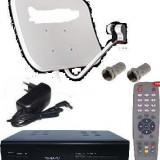 TV SATELIT CAMPING  -TIR-RULOTA-kit complet-microreceptor alimentare 12 v